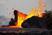 Lava from Hawaii volcano enters ocean from 3 flows (photos)