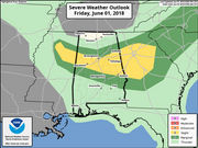 Strong storms possible in Alabama this weekend