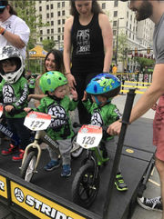 Toddlers race in Strider Cup in downtown Cleveland