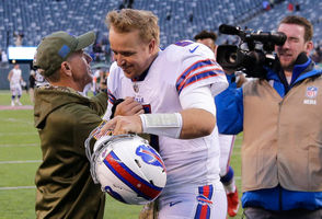 "East Rutherford, N.J. -- Matt Barkley doesn't know what he proved Sunday afternoon by leading the Buffalo Bills to a 41-10 win on the road against the New York Jets. He said he'll leave it up to everyone else to decide. ""I knew that I could play in this league,"" Barkley said. ""To get back out there after two years, I don't want to be cliche by saying it's like riding a bike, but I've done this for years. I believe I was made to play football, and tonight was just an example of going out there and doing what I was made to do."" The last time Barkley started in the NFL, he was with Chicago in 2016. His 1-5 record with eight touchdowns to 14 interceptions didn't earn him another one with the Bears or any other team in a regular-season game. That is, until Sunday for the hapless Bills with their NFL-worst passing offense and alleged collection of misfits scattered throughout the roster on offense."