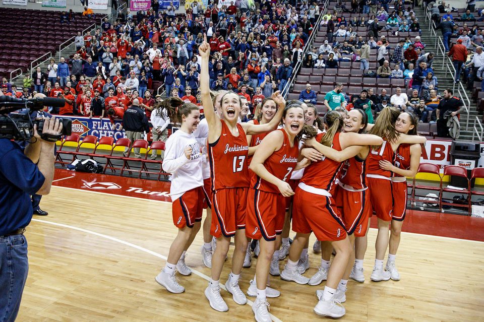 Pennsylvania high school girls basketball pennlive jennifer kremp carries jenkintown past juniata valley in piaa class a title game girls basketball fandeluxe Image collections