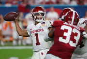 Latest NFL mock draft 2019: 3 big trades in 1st round | Oklahoma's Kyler Murray declares; Ohio State's Dwayne Haskins to Jaguars or Giants? Nick Bosa to Jets?