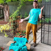 Unipiper recovers some of the shirts stolen from his porch