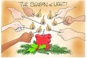 Editorial cartoons for Dec. 24, 2017: A tax cut for Christmas
