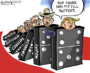 Editorial cartoons for Dec. 17, 2017: Roy Moore loses, tax bill gains, net neutrality ends