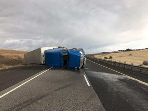 Oregon State Police closed about 90 miles of Interstate 84 on Friday because of strong winds. The windy stretch of highway from just east of Pendleton to Baker City was shut down for several hours Friday and later reopened.