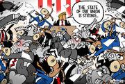 Editorial cartoons for Feb. 4, 2018: State of the Union, Nunes memo, Super Bowl