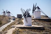 Tilt at windmills like Don Quixote in Consuegra, Spain