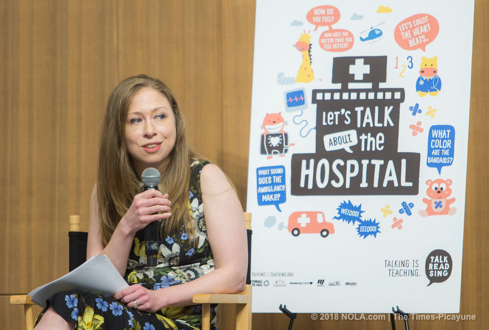 Chelsea Clinton in New Orleans for literacy program at Children's Hospital
