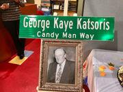 Street renamed in Travis for late 'Candy Man' George (Kaye) Katsoris