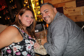 Marianne and Paul Kelly celebrate the holiday at Vinum in Stapleton. (Staten Island Advance/ Victoria Priola)