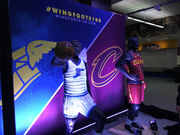 Cavs unveil 2 sculptures, created with hundreds of tires, at the Q