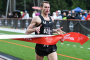 Clayton Murphy wins the 1,500 at the Portland Track Festival with a decisive late move