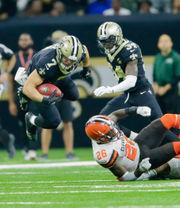 Saints quarterback Taysom Hill impresses in debut as kickoff returner
