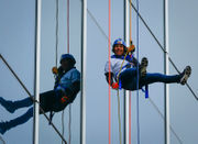 Lehigh Valley groups rappel 12-story building for charity