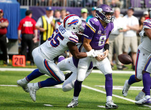 Orchard Park, N.Y. -- For Buffalo Bills fans that watched their team struggle in the first two weeks of the season, Sunday's road upset win over the Minnesota Vikings was likely a shock to the system. But now that the dust has settled a bit and we've had some time to digest exactly what happened in the Bills' 27-6 win over the Vikings it's only natural to wonder just who this Buffalo team really is. Are the Bills the team that went on the road Week 1 and got dominated in every phase of the game by the Baltimore Ravens and traditionally mediocre quarterback Joe Flacco? Or are the Bills the team that went into U.S. Bank Stadium in Minneapolis in Week 3 - one of the toughest places to play in the NFL against one of the best defenses in the league - and managed to overpower the Vikings on both sides of the ball? The answer is probably somewhere in the middle but here are eight takeaways from Sunday's game that could mean the Bills are for real.