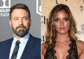 """""""Batman v Superman"""" actor Ben Affleck, left, and Playboy model Shauna Sexton are pictured in 2018 file photos."""