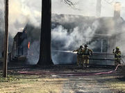 Pelham fire destroys home, causes brush fire