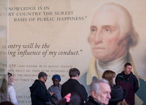 Not sure how to mark Presidents Day, that post-Valentine's Day, pre-St. Patrick's Day occasion on your calendar? The federal holiday, officially known as George Washington's Birthday (the president's likeness is pictured above on a wall at Washington's Mount Vernon estate in 2014), is celebrated on Monday, Feb. 18, 2019. For those who wouldn't mind embracing the spirit of capitalism, the holiday brings a range of shopping discounts at various retailers. Here's a look at some of those deals.