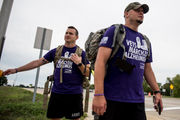 Veterans march from Adrian to Ann Arbor for Walk to End Alzheimer's