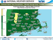 Heavy rain to hit Massachusetts during Monday commute