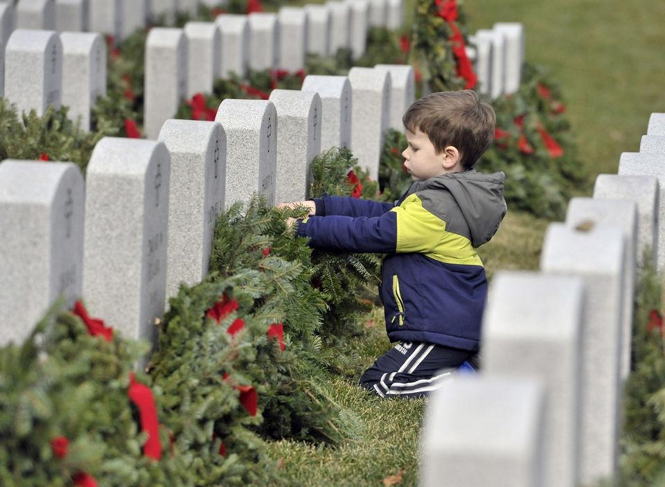 Wreaths Across America distributes 7,500 wreaths at Massachusetts Veterans Memorial Cemetery in Agawam