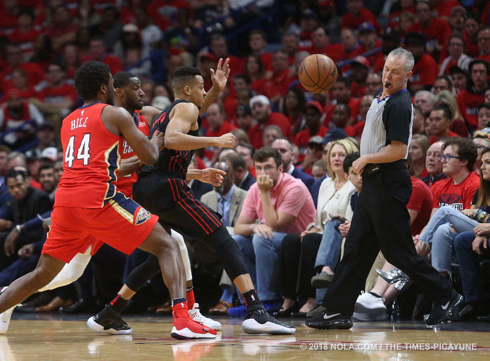 Portland Trailblazers at New Orleans Pelicans Playoff Game 3