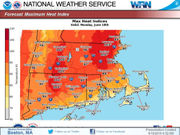 Temperatures to feel at or above 100 degrees, severe storms possible Monday in Massachusetts