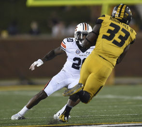 Auburn defensive back Jeremiah Dinson in 2017-18