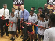 Cavaliers, city of Cleveland celebrate newly refurbished gym on East Side