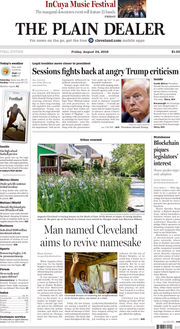 The Plain Dealer's front page for September 4, 2018