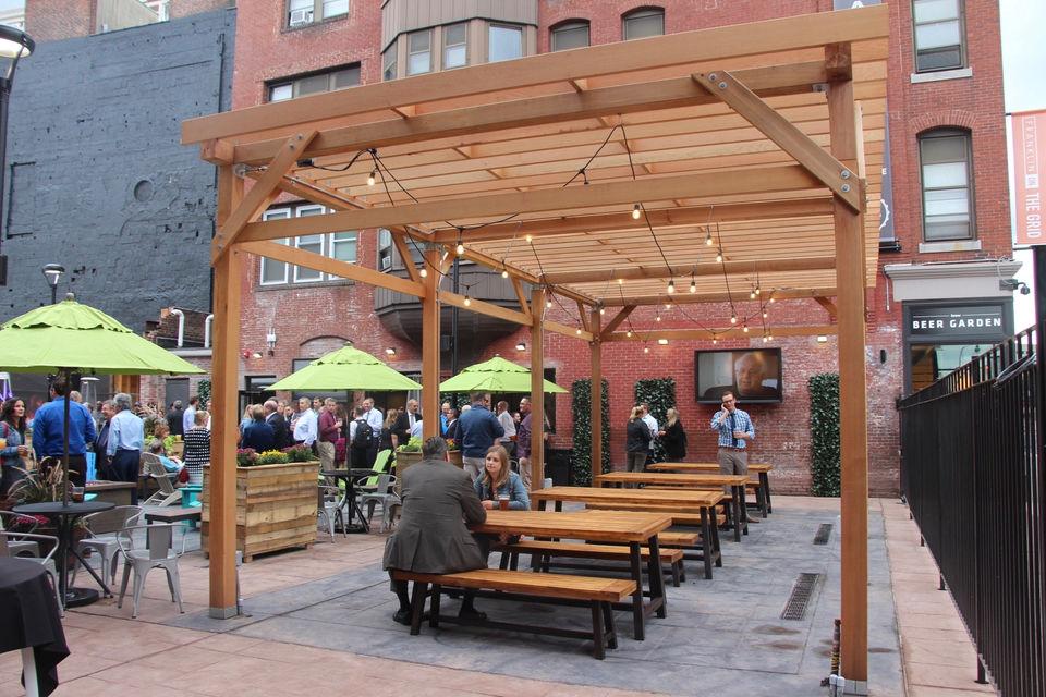 Worcester 39 S Brew Beer Garden Opens Downtown With Outdoor Terrace 36 Beers On Tap
