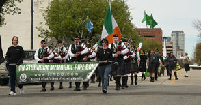 Ian Sturrock Memorial Pipe Band led the parade. 2019 St. Patrick's Day Parade in Birmingham. (Joe Songer | jsonger@al.com).