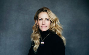 "In this Dec. 3, 2018 photo, actress Julia Roberts poses for a portrait in New York to promote her film, ""Ben is Back."""
