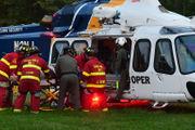 Man flown to St. Luke's after motorcycle crash in N.J. (PHOTOS)
