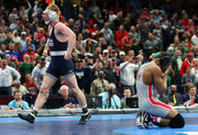 NCAA Wrestling Championships 2018: Bo Nickal's shocking fall of Myles Martin gives Penn State team title
