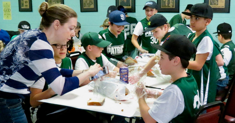 Students at St. Patrick's school make 'One Sandwich at a Time' for the poor