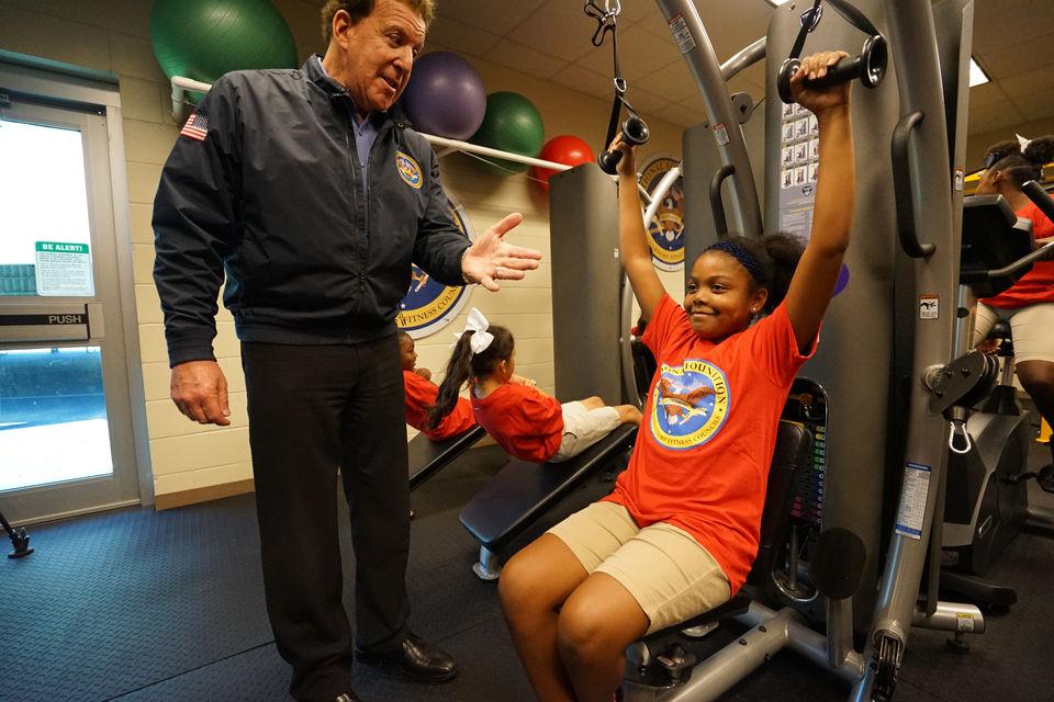 Luling Elementary School's new fitness center