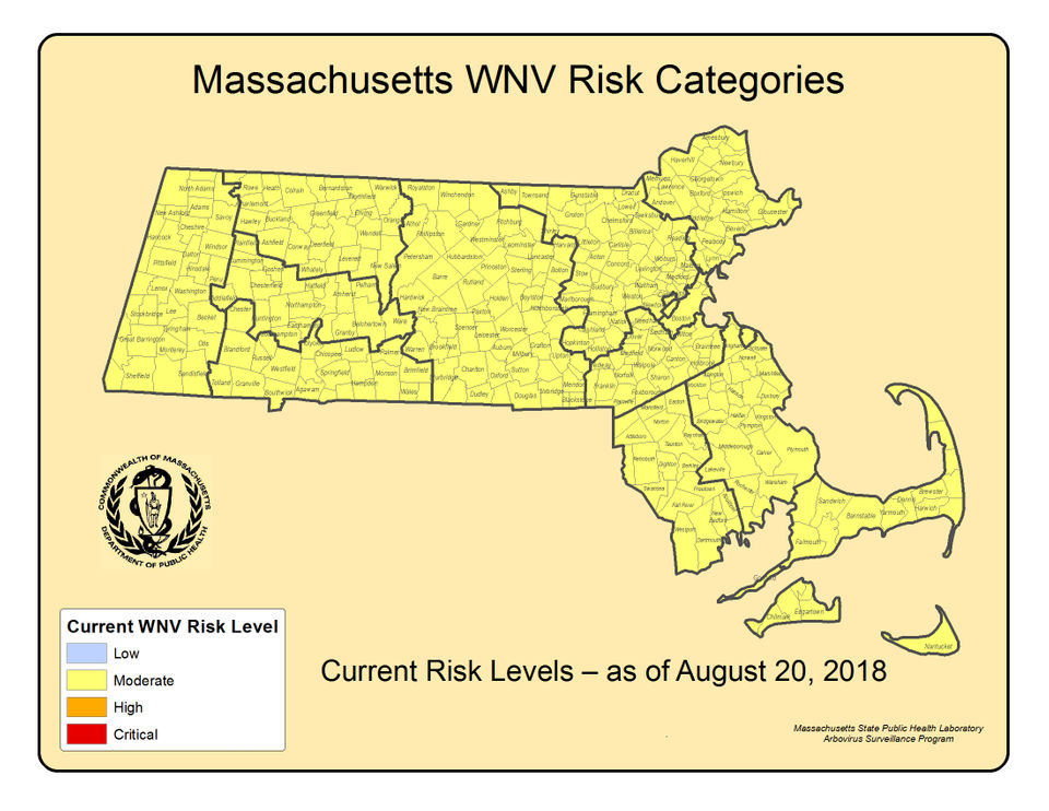 west nile virus detections these are the 94 massachusetts towns and