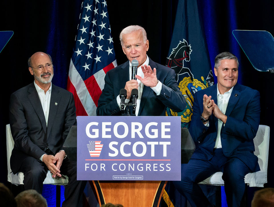 Former VP Joe Biden and Gov. Wolf campaign for George Scott