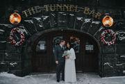 Eric and Jennifer: A small winter wonderland wedding at Union Station in Northampton