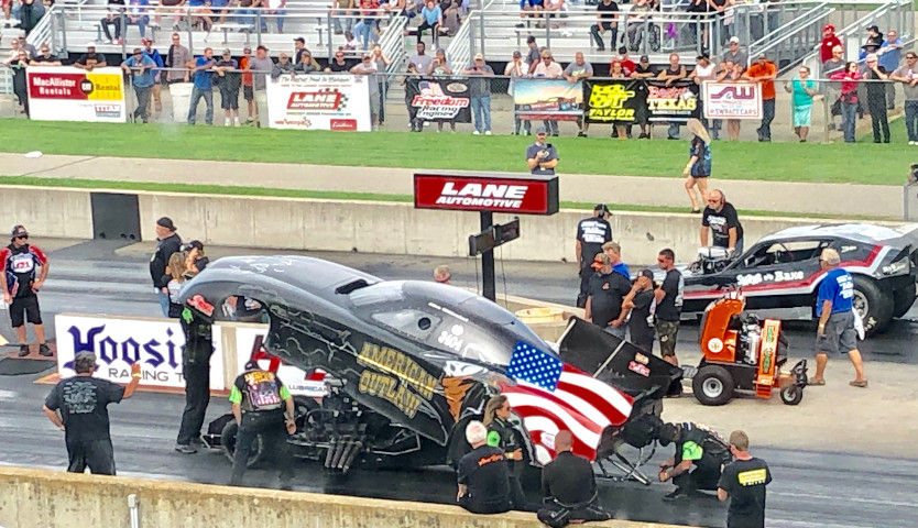 Rain, then fire reign at Martin Dragway's Funny Car