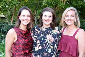 Chairpersons of the young group of Moonlighters, left to right, Brooke Levy, Leigh Thorpe, and Caitlin Brewster.