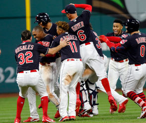 Cleveland Indians win on a Greg Allen walk-off hit in the 11th inning.