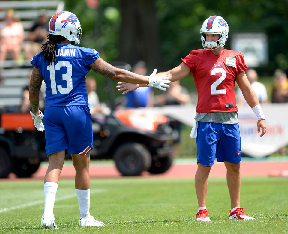 differently bf6aa 26347 Buffalo Bills training camp day 2: Nathan Peterman shows off ...