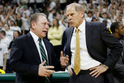 Beilein still chasing Izzo for supremacy in Michigan-Michigan State rivalry