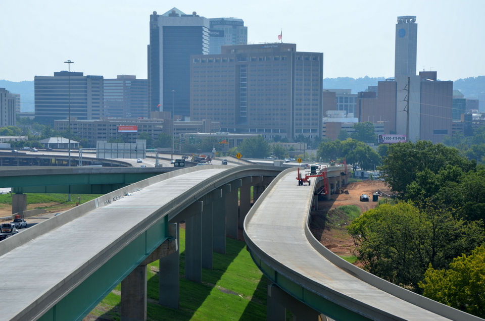 Alabama Gov. Kay Ivey said several rebuilt ramps to I-59/20 and I-65 will open in downtown Birmingham by Aug. 31, 2018.