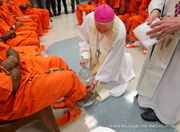 Archbishop Aymond washes prisoners' feet on Holy Thursday: photo gallery