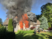 Homeowner returns to find house on fire, frees pet dogs