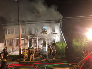 A fire tore through a home the evening of Oct. 22, 2018, in the 1000 block of West Berwick Street in Easton.